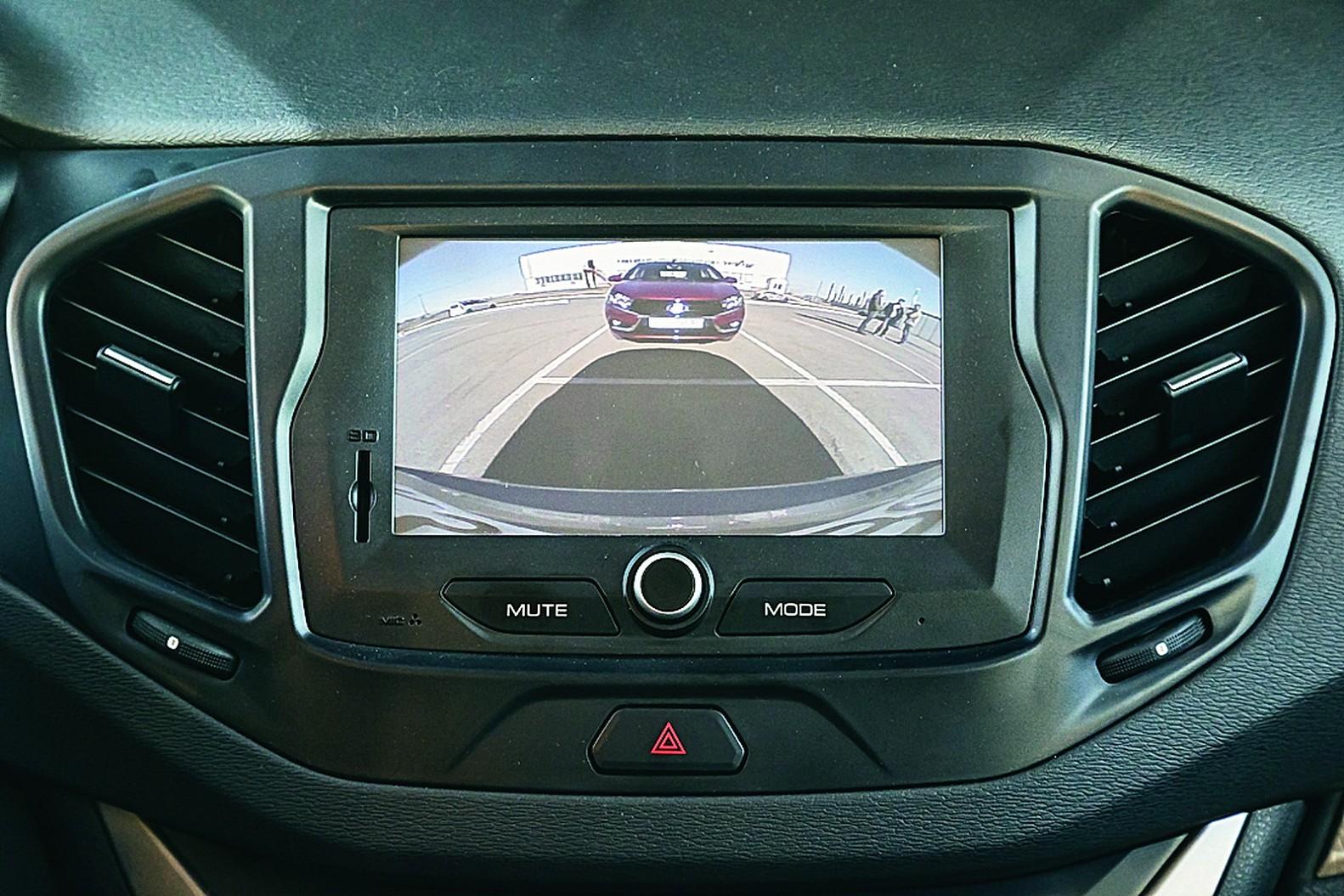 Lada Vesta камера заднего вида